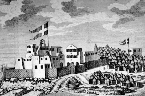 Christiansborg Castle, Accra (public domain)