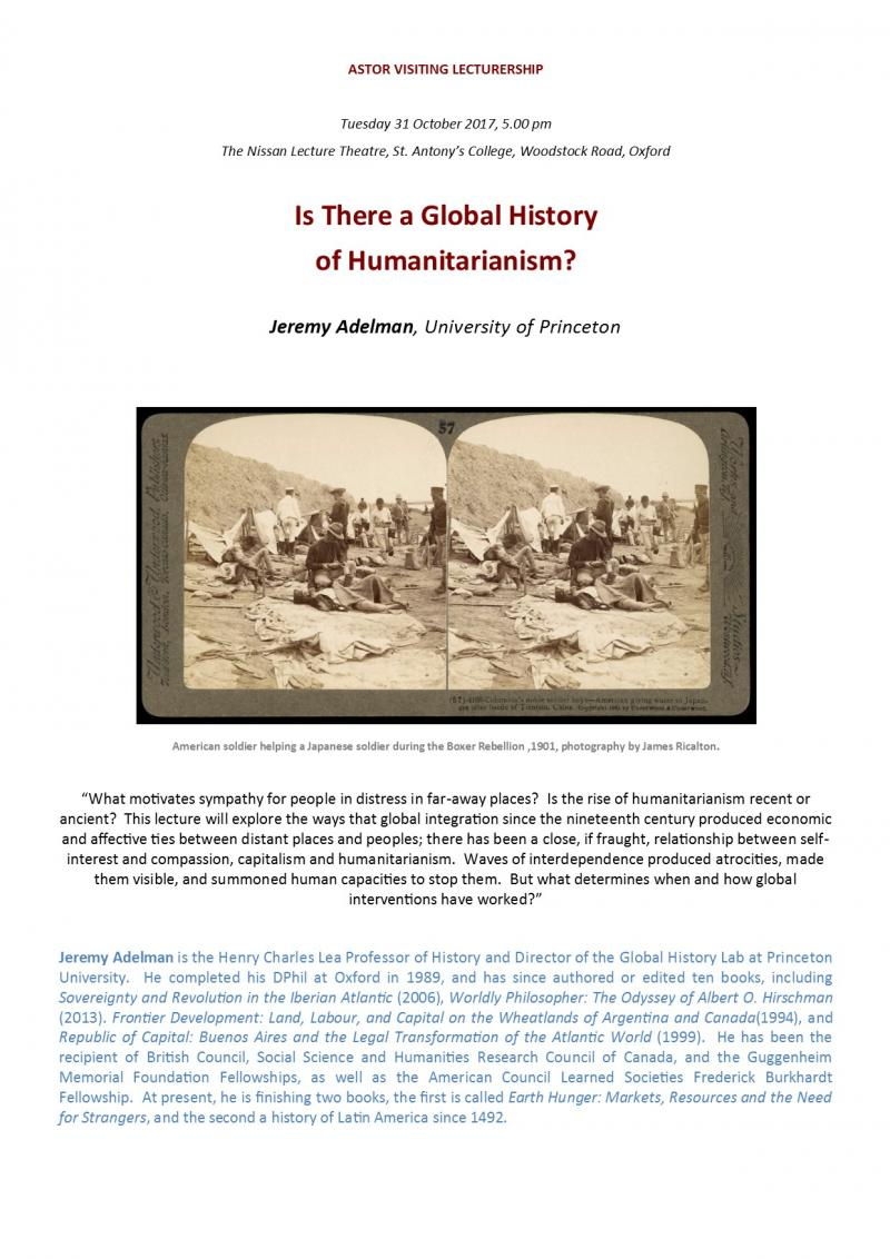 adelman lecture 31 oct poster