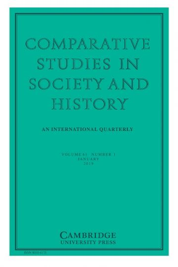comparative studies in society and history